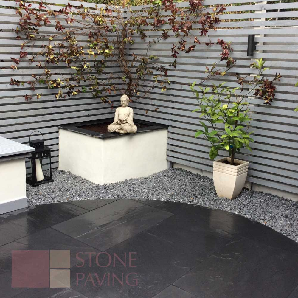 Natural Stone Paving premier black slate
