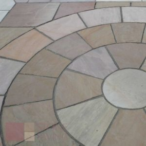 Natural Stone Paving Circles-Fernlea
