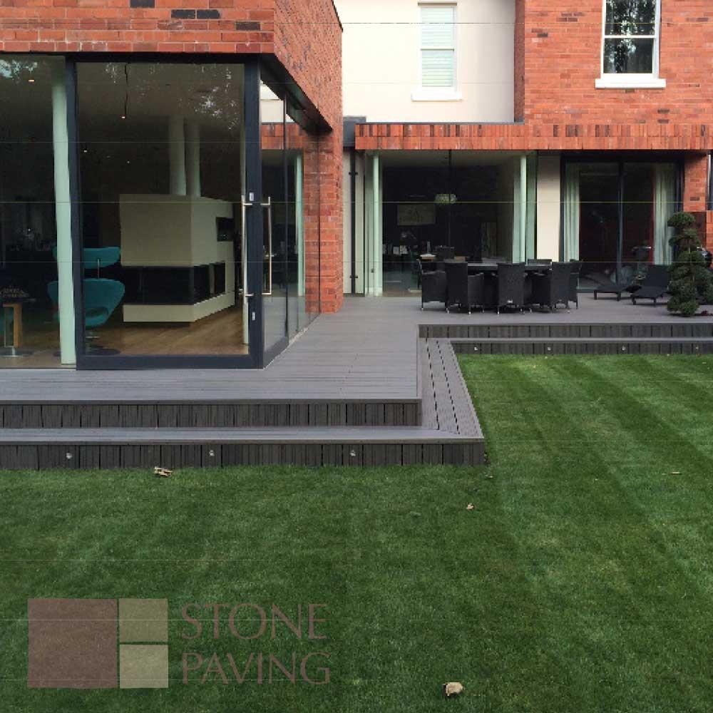 Natural Stone Paving Composite-Decking-Graphite