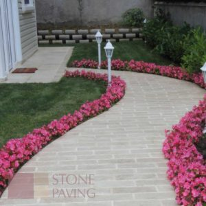 Natural Stone Paving Premier-Cream-Travertine