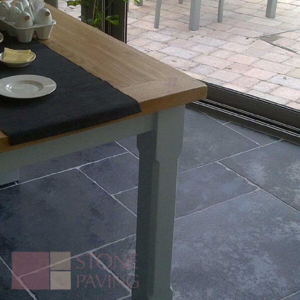 Natural Stone Paving Weathered-Carbon